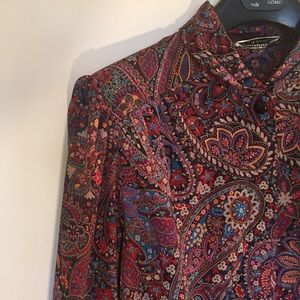 Vintage One of a Kind Paisley Lightweight Blouse